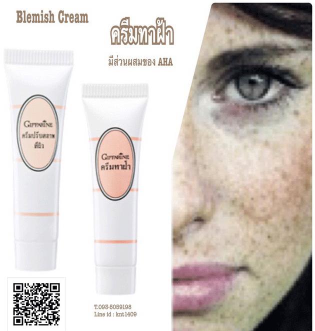 ครีมทาฝ้า กิฟฟารีน, แก้ปัญหาฝ้า, ผิวหน้าขาวใส,ครีมรักษาฝ้า กิฟฟารีน,Giffarine Blemish Cream,ครีมบำรุงสูตรเข้มข้นแต้มรอยด่างดำจากฝ้า,ครีมปรับสภาพสีผิว กิฟฟารีน